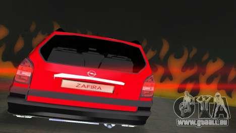 Opel Zafira pour GTA Vice City vue arrière