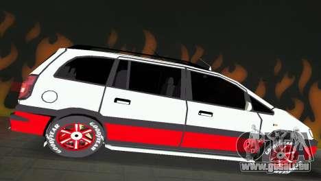 Opel Zafira pour une vue GTA Vice City de la droite