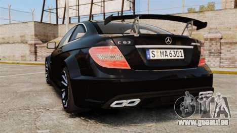 Mercedes-Benz C63 AMG BSAP (C204) 2012 pour GTA 4 Vue arrière de la gauche