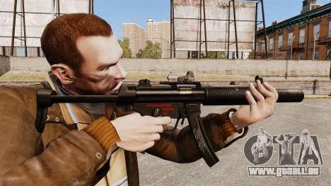 MP5SD mitraillette v2 pour GTA 4