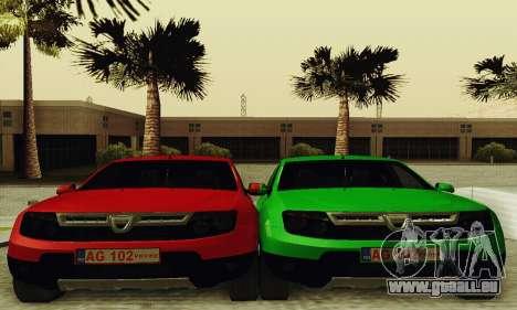 Dacia Duster Limo für GTA San Andreas Rückansicht
