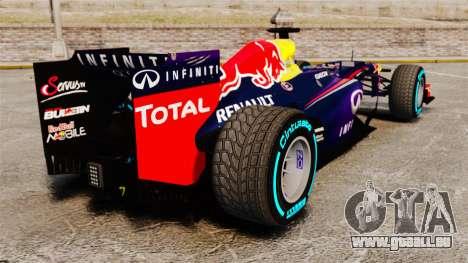 Voiture, Red Bull RB9 v1 pour GTA 4 Vue arrière de la gauche