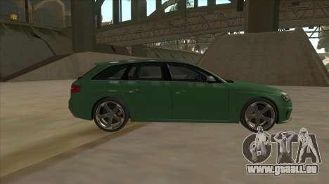 Audi RS4 Avant B8 2013 V2.0 pour GTA San Andreas laissé vue