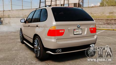 BMW X5 4.8iS v2 pour GTA 4 Vue arrière de la gauche