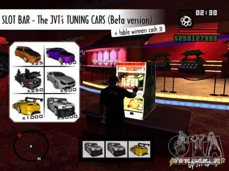 Slot BAR The JVTs tuning cars für GTA San Andreas