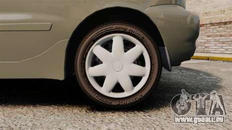 Daewoo Lanos FL 2001 pour GTA 4 Vue arrière