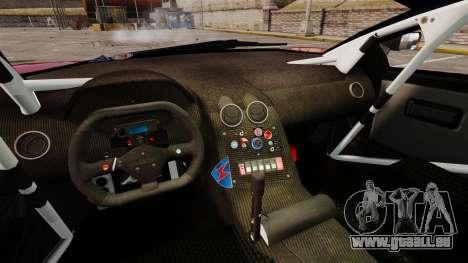 Lamborghini Murcielago RGT pour GTA 4 est une vue de l'intérieur