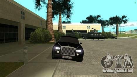 Rolls-Royce Phantom pour GTA San Andreas vue de droite