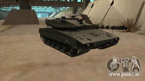 Merkava IV pour GTA San Andreas vue arrière