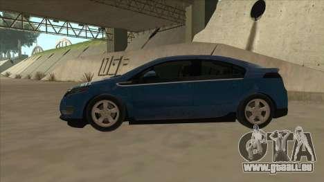 Chevrolet Volt 2011 [ImVehFt] v1.0 für GTA San Andreas zurück linke Ansicht