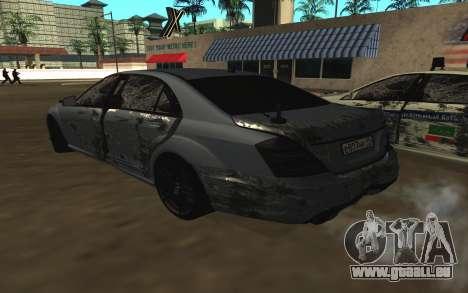 Mercedes-Benz S65 AMG W221 pour GTA San Andreas roue
