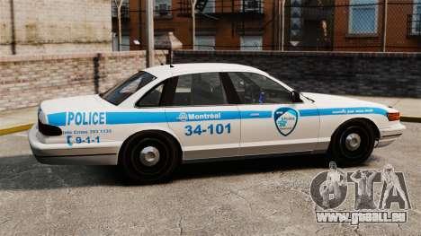 Montreal Polizei v1 für GTA 4 linke Ansicht