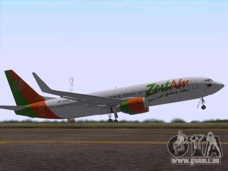 Boeing 737-800 Zest Air für GTA San Andreas Innen