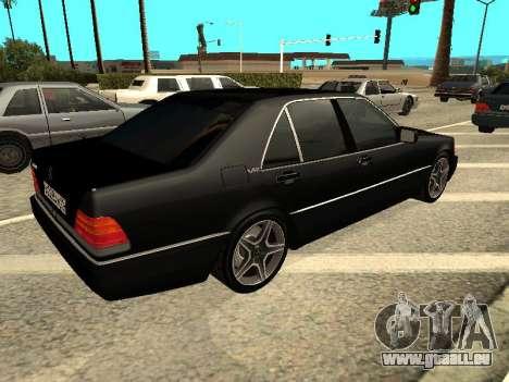 Mercedes-Benz w140 s600 für GTA San Andreas rechten Ansicht