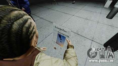 Le New York Times v1 pour GTA 4 secondes d'écran