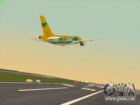 Airbus A320-211 Cebu Pacific Airlines für GTA San Andreas Innenansicht