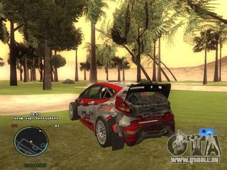 Ford Fiesta RS WRC pour GTA San Andreas vue de dessus