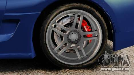 Toyota Supra MKIV TRD 1995 pour GTA 4 Vue arrière