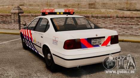 Police néerlandaise pour GTA 4 Vue arrière de la gauche