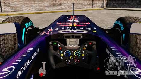 Voiture, Red Bull RB9 v1 pour GTA 4 Vue arrière