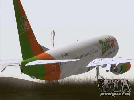 Boeing 737-800 Zest Air pour GTA San Andreas vue de droite