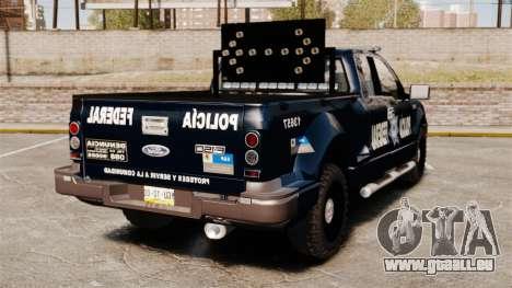 Ford F-150 De La Policia Federal [ELS & EPM] v3 pour GTA 4 Vue arrière de la gauche