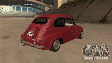 Zastava 750 Fico für GTA San Andreas Rückansicht