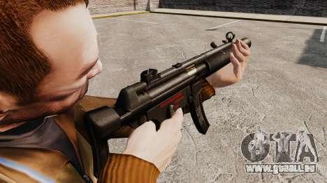 MP5SD mitraillette v5 pour GTA 4 secondes d'écran