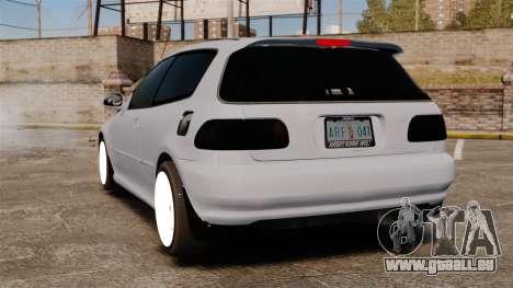 Honda Civic Gtaciyiz pour GTA 4 Vue arrière de la gauche