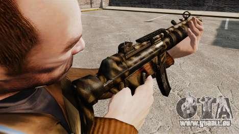 MP5SD mitraillette v7 pour GTA 4 secondes d'écran