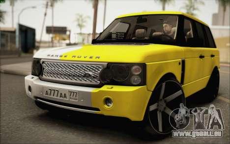 Land Rover Range Rover Gold Vossen pour GTA San Andreas