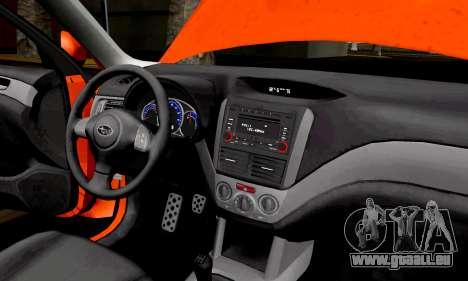 Subaru Forester RRT Sport 2008 v2.0 pour GTA San Andreas vue arrière