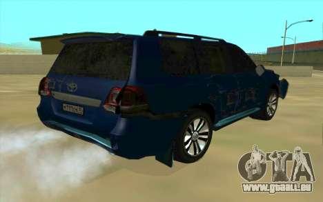 Toyota Land Cruiser 200 pour GTA San Andreas salon