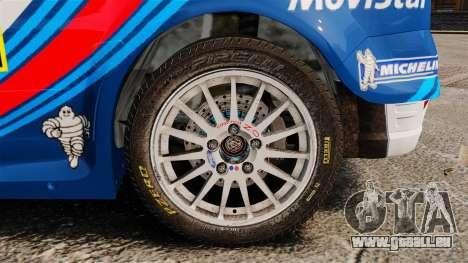 Ford Focus RS Martini WRC pour GTA 4 Vue arrière