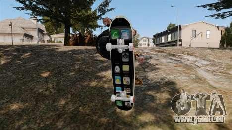 Skateboard iPhone pour GTA 4 est un droit