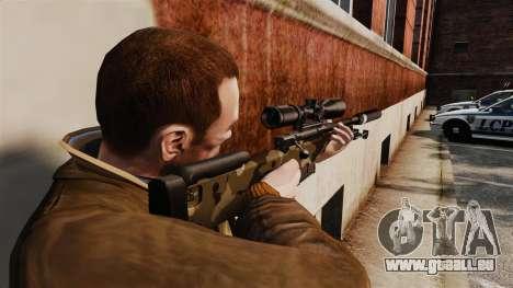 Fusil de sniper AW L115A1 avec un v10 de silenci pour GTA 4 secondes d'écran