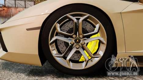 Lamborghini Aventador LP700-4 2012 v2.0 pour GTA 4 Vue arrière