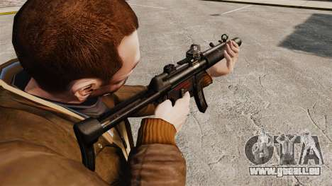 MP5SD mitraillette v2 pour GTA 4 secondes d'écran