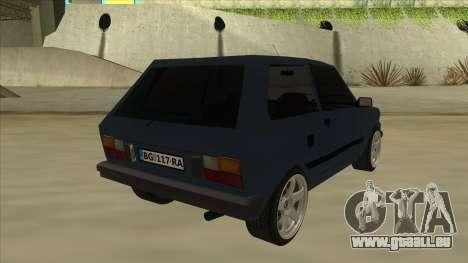 Zastava Yugo 1.1 pour GTA San Andreas vue de droite