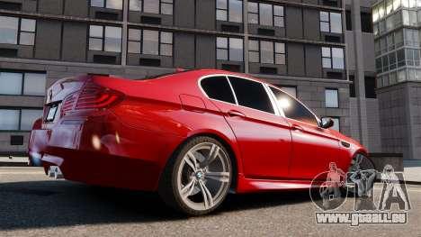 BMW M5 2012 pour GTA 4 est une gauche