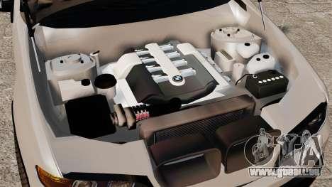 BMW X5 4.8iS v2 pour GTA 4 Vue arrière