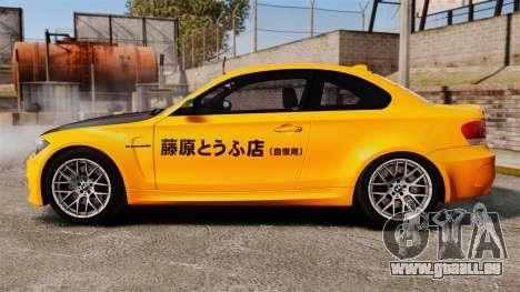 BMW 1M Coupe 2011 Fujiwara Tofu Shop Sticker für GTA 4 linke Ansicht