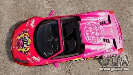 Ferrari 458 Spider Pink Pistol 027 Gumball 3000 für GTA 4 rechte Ansicht