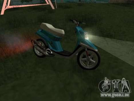 MBK Booster Spirit pour GTA San Andreas laissé vue