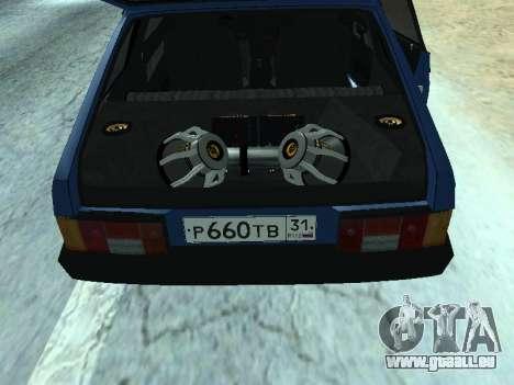 VAZ 2108 une douzaine bleu pour GTA San Andreas vue de droite