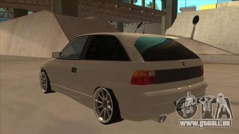 Opel Astra F DRP pour GTA San Andreas vue arrière