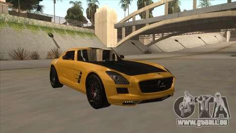 Mercedes SLS AMG Hamann 2010 V1.0 pour GTA San Andreas laissé vue