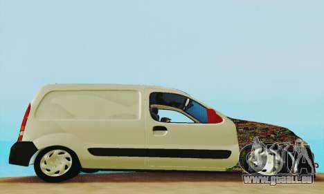 Renault Kangoo für GTA San Andreas Rückansicht