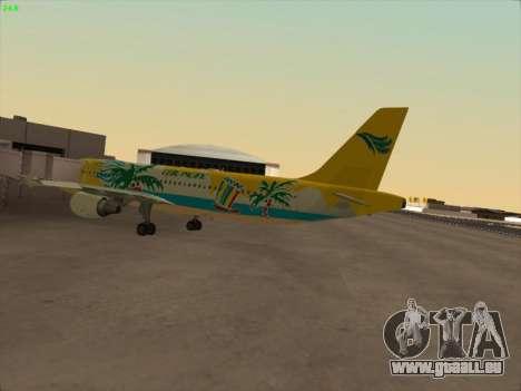 Airbus A320-211 Cebu Pacific Airlines für GTA San Andreas zurück linke Ansicht