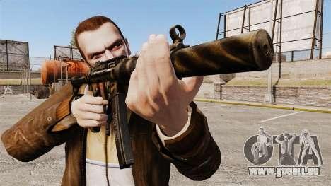 V8 MP5SD Maschinenpistole für GTA 4 dritte Screenshot
